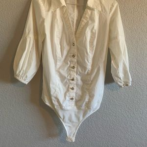 Bodysuit shirt 3/4 sleeves pre-owned size S